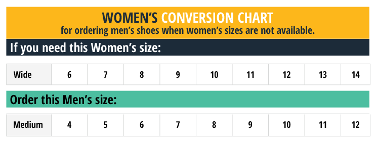 OSC_Womens Conversion Order Chart_062220