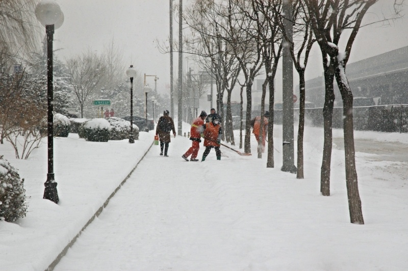 snow safety workers