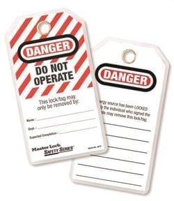 Master Lock DO NOT OPERATE Safety Tag, Laminated, 497A