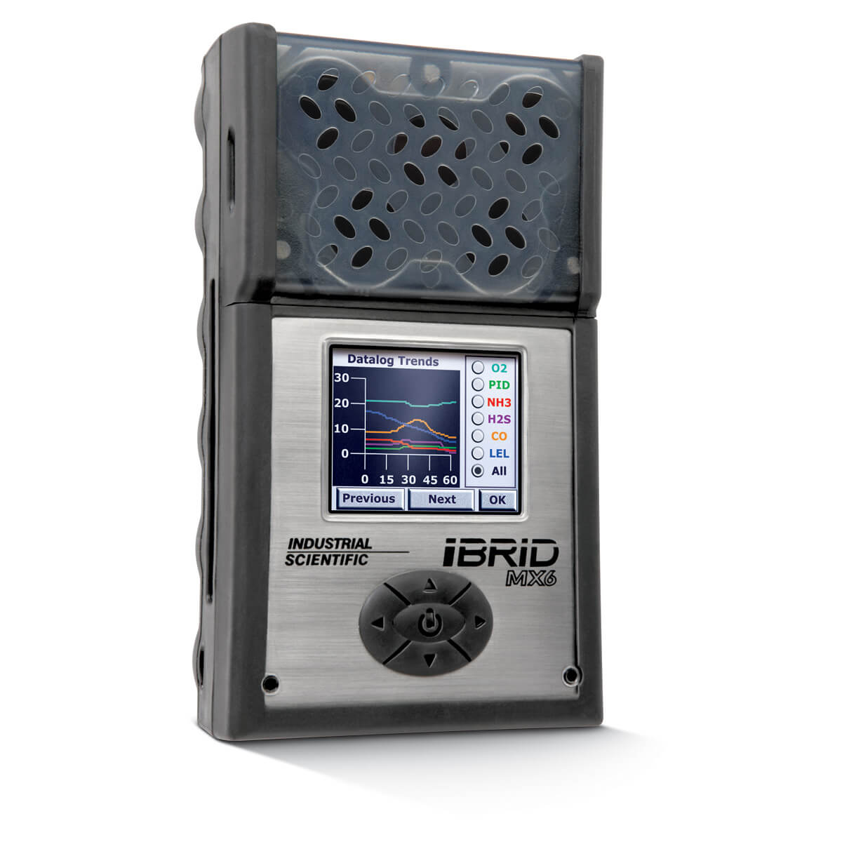 Industrial Scientific MX6 iBrid Gas Detector - HCL