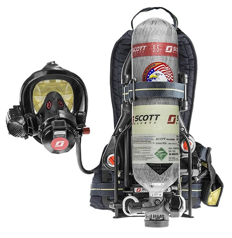 Scott Air Pak and AV3000 Facepiece Safety Respiratory Equipment